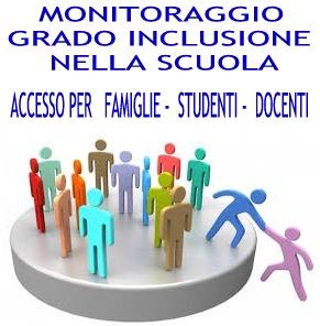 Monitoraggio Grado Inclusione - Accesso per Famiglie, Studenti, Docenti