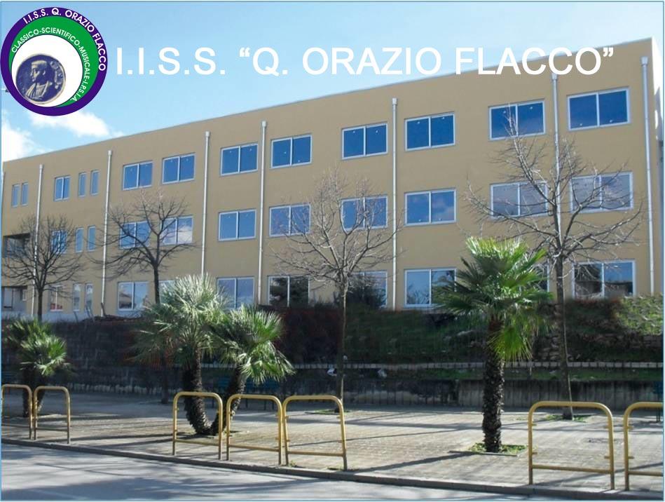 Immagine del prospetto della sede dell'IIS Q.Orazio Flacco di Venosa
