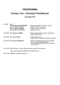 Programma Certamen